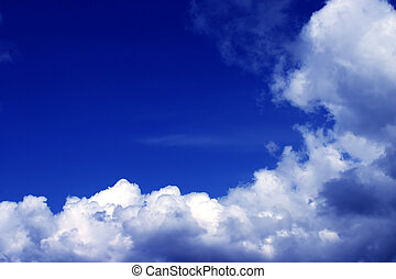 Blye sky with some white clouds