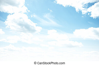 Sky bright pastel colors. Summer tropical background