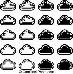 sky cloud black symbols