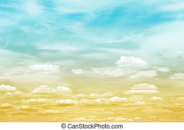 Sky Cloud Gradient - A cloudscape with an earth to sky toned...
