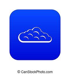 Sky cloud icon digital blue
