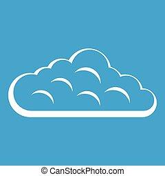 Sky cloud icon white