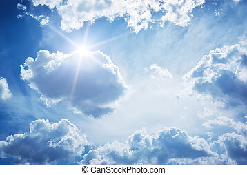 Sky clouds - Blue skylight. Composition of nature.