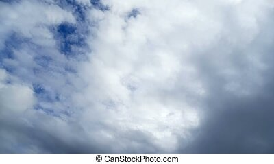 sky clouds nature blue clouds fast motion time lapse - sky...