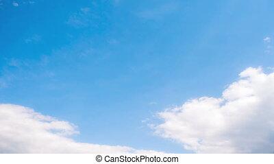 Sky clouds timelapse
