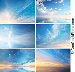 Sky collection - Sky daylight collection. Natural sky ...