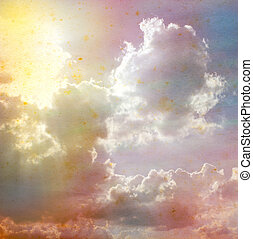 sky color on old paper.
