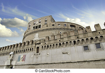 Sky Colors over Castel Sant'Angelo in Rome, Italy