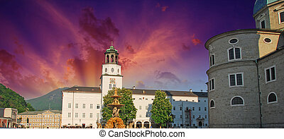 Sky Colors over Salzburg