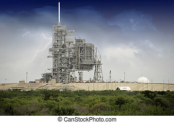 Sky Colors over Space Shuttle Launch Pad in Cape Canaveral