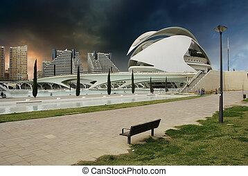 Sky Colors over Valencia, Spain