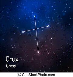 sky., csillagos, ábra, vektor, éjszaka, csillagkép