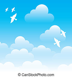 sky design over blue background vector illustration