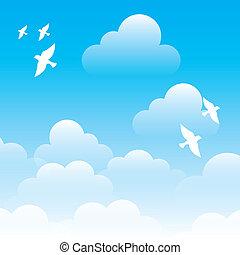 sky design over blue background vector illustration