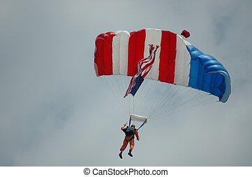 Sky Diver - Photographed at air show Ft. Pierce, Florida