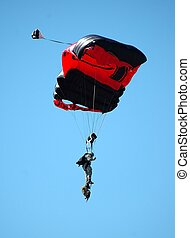 Sky Diving - Photographed a sky diver at an air show in...