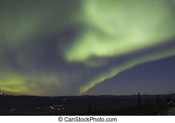 Sky filled with northern light