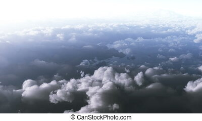 Sky - flying through cloudy sky