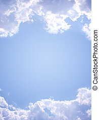 Sky - Frame- white clouds in the blue sky