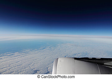 sky from an airplane