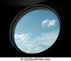 Sky from circle window.