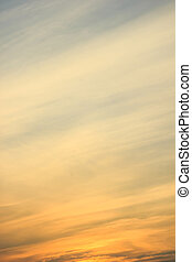 Sky gradient from blue to orange sunset
