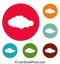 Sky icons circle set