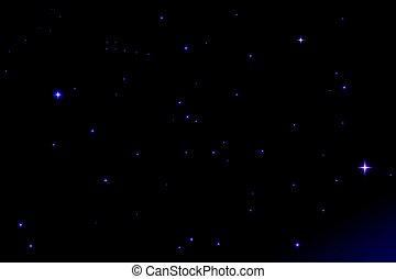 sky., illustration espace, arrière-plan., vecteur, étoiles, nuit