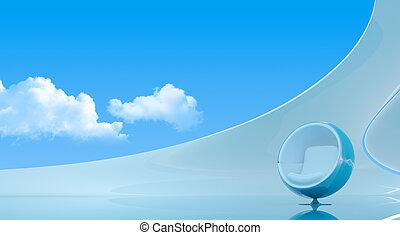 Sky interior copyspace