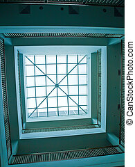 Sky light in modern office building court