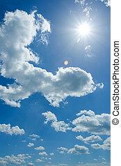 sky, molnig