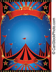 Sky night circus - Poster of a circus by night.