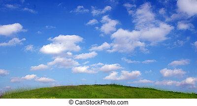 sky, och, gräs