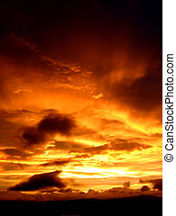 Sky on Fire - A sky on fire at sunset in india