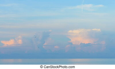 Sky over ocean, morning landscape
