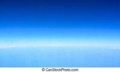 sky, på, den, horisont