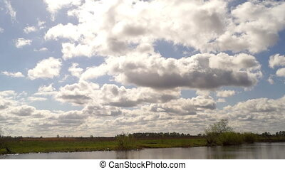 Sky river lake clouds