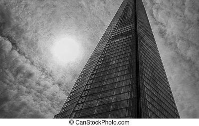 Sky scraper in black and white
