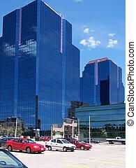 sky scrapers - glass towers