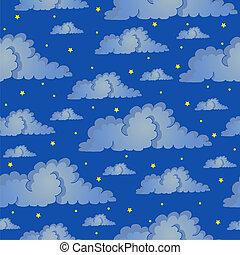 sky, seamless, bakgrund, natt