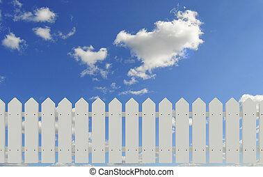 sky, staket
