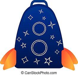 Sky star backpack icon, cartoon style