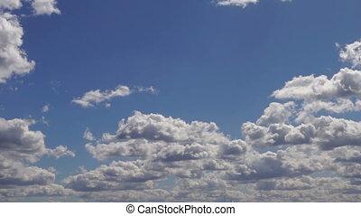 Sky summer clouds blue