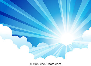 Sky Sun Cloud Vectors