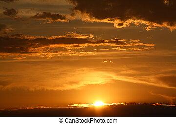 Sky sunset - he sun setting in the western skies near Tucson...