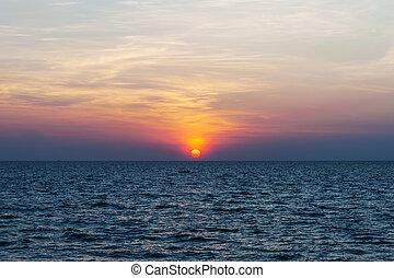 Sky sunset on the sea