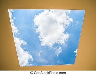 Sky through the roof