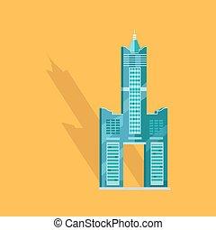 Sky Tower Skyscraper Tanteks in Taiwan Graphic