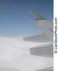 sky view from an airplane