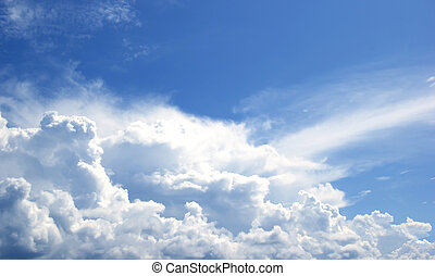 Sky white clouds background abstract nature, fresh air.